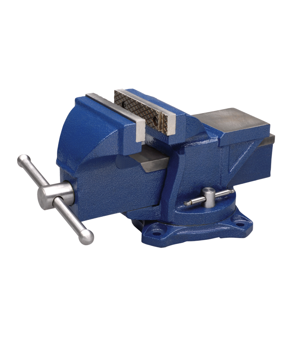 """Manual: General Purpose 4"""" Jaw Bench Vise with Swivel Base"""
