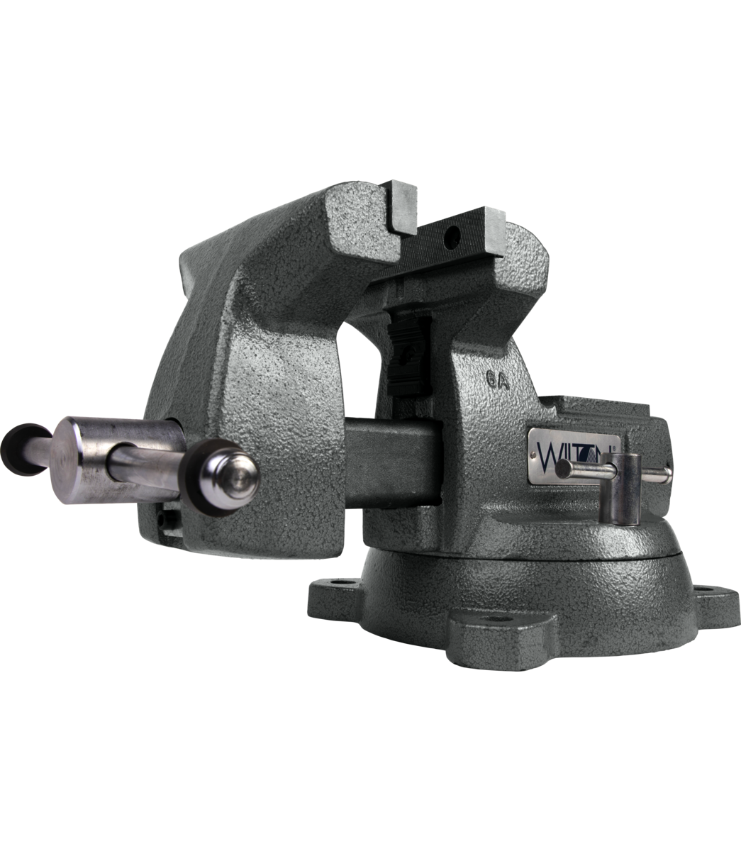 "Manual: Mechanics Vise 6"" Jaw with Swivel Base"