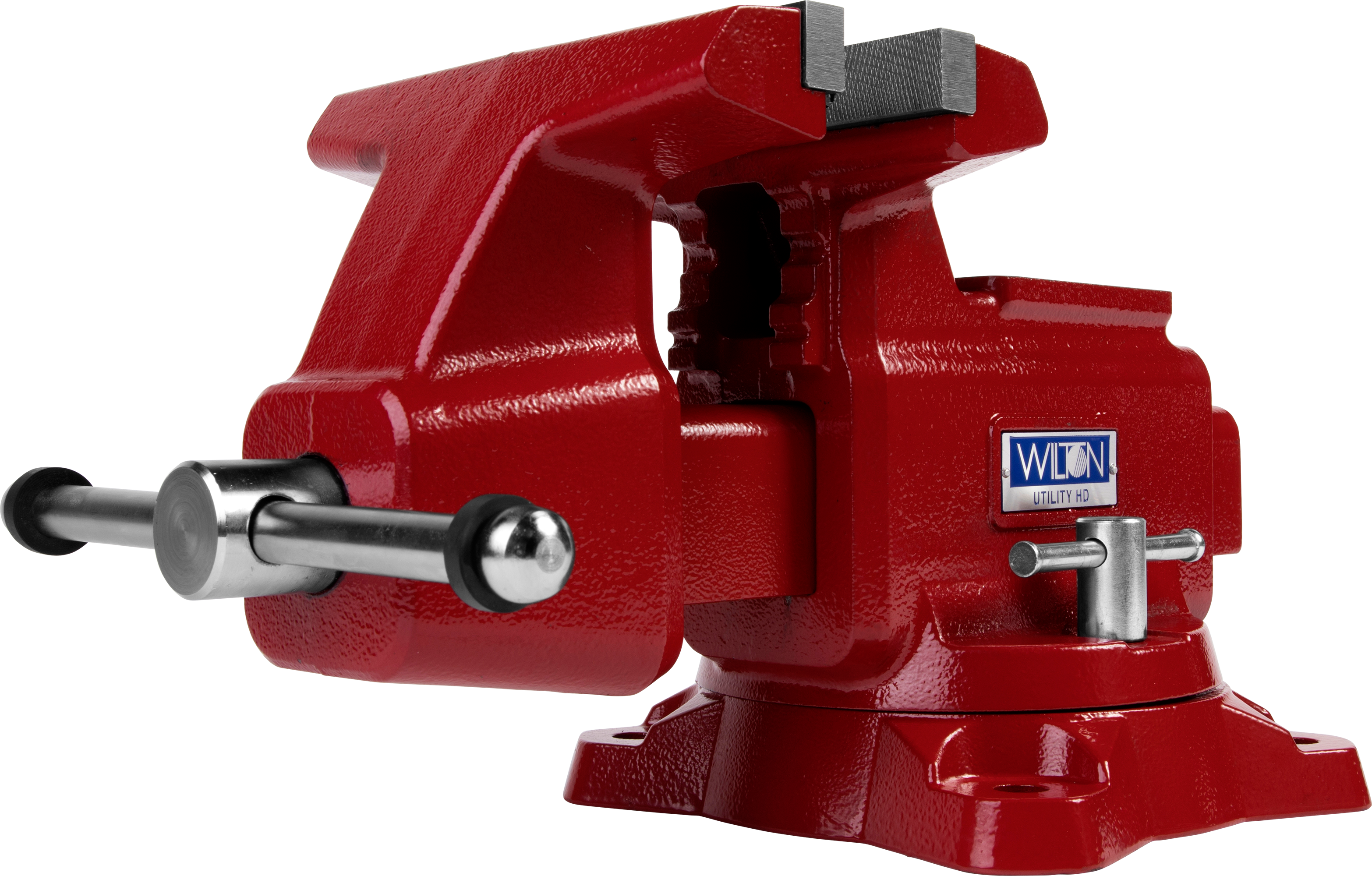 "Manual: Utilty HD Bench Vise 8"" Jaw Width, 8-1/2"" Jaw Opening, 360° Swivel Base"
