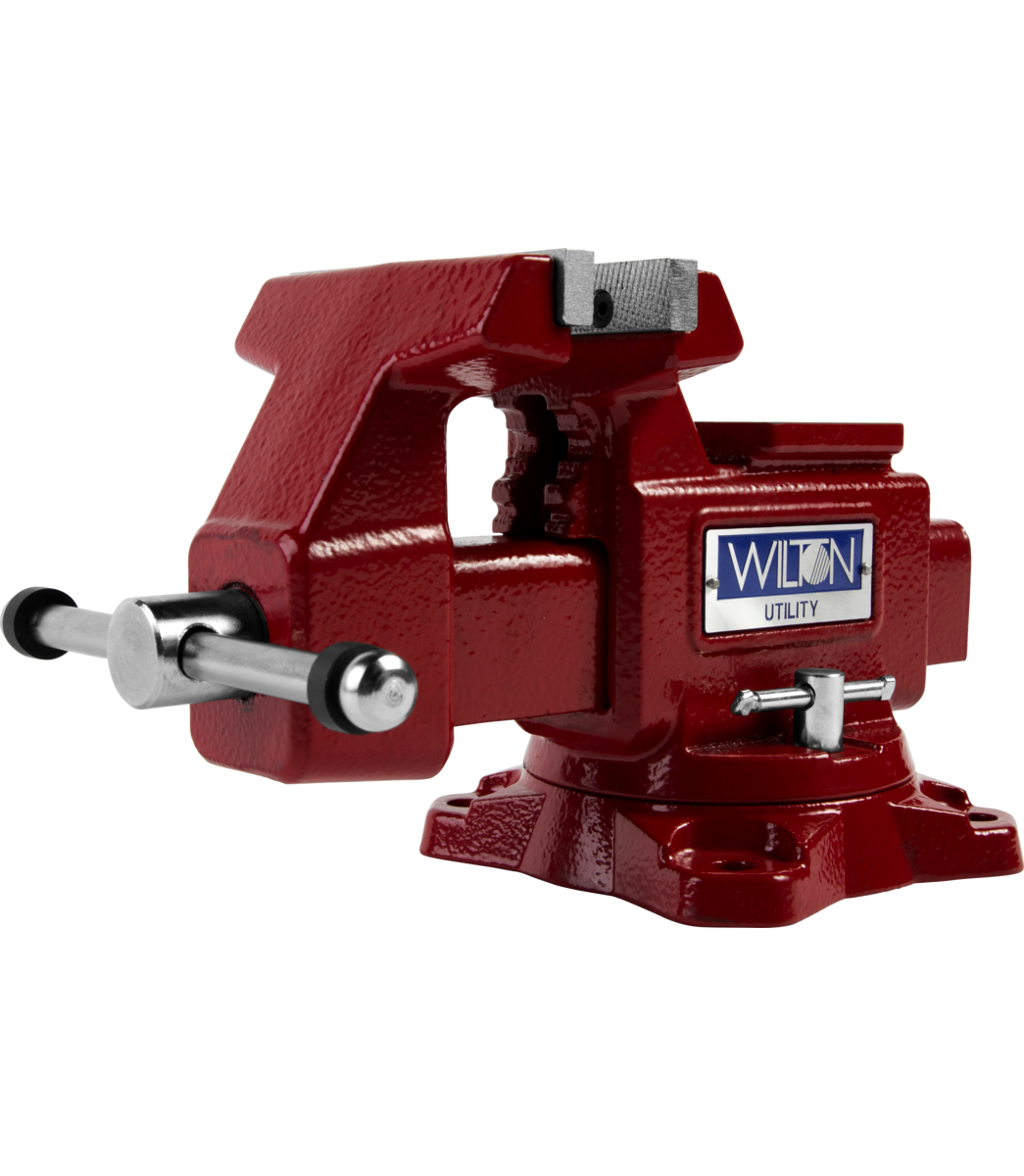 "Manual: Utility Bench Vise 4-1/2"" Jaw Width, 4"" Jaw Opening, 360° Swivel Base"