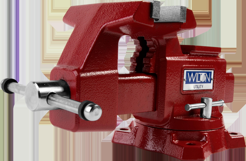 "Manual: Utility Bench Vise 5-1/2"" Jaw Width, 5"" Jaw Opening, 360° Swivel Base"