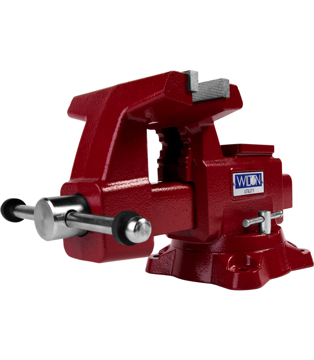 "Manual: Utility Bench Vise 6-1/2"" Jaw Width, 6"" Jaw Opening, 360° Swivel Base"