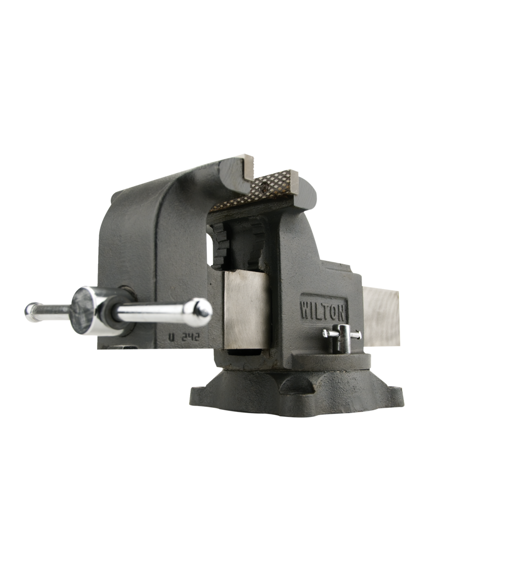 "Manual: WS8, Shop Vise, 8"" Jaw Width, 8"" Jaw Opening, 4"" Throat Depth"