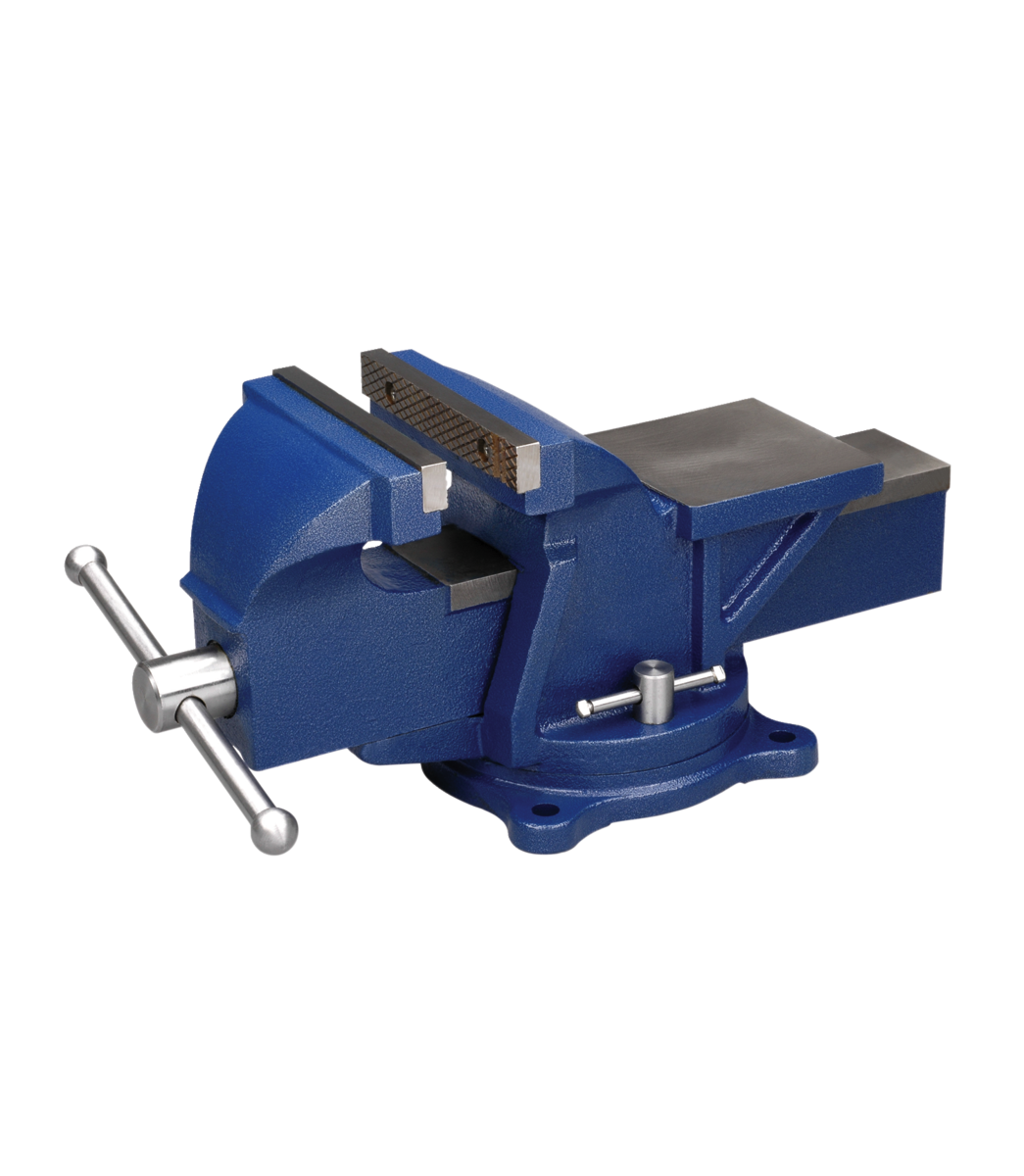 """Manual: General Purpose 5"""" Jaw Bench Vise with Swivel Base"""