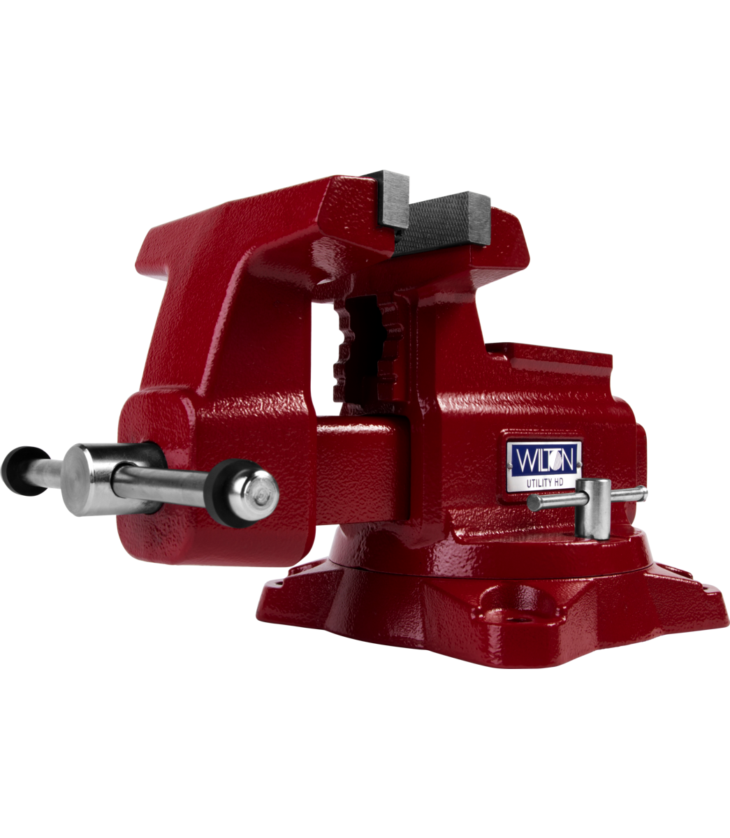 "Manual: Utility HD Bench Vise 6-1/2"" Jaw Width, 6-1/4"" Jaw Opening, 360° Swivel Base"